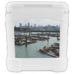 San Francisco and Pier 39 Sea Lions City Skyline Rolling Cooler