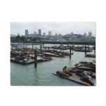San Francisco and Pier 39 Sea Lions Doormat