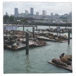 San Francisco and Pier 39 Sea Lions Napkin