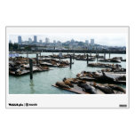 San Francisco and Pier 39 Sea Lions Wall Decal