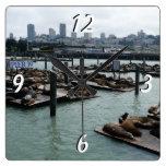 San Francisco and Pier 39 Square Wallclocks