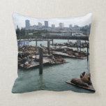 San Francisco and Pier 39 Throw Pillows