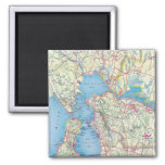 San Francisco and Vicinity 2 Inch Square Magnet