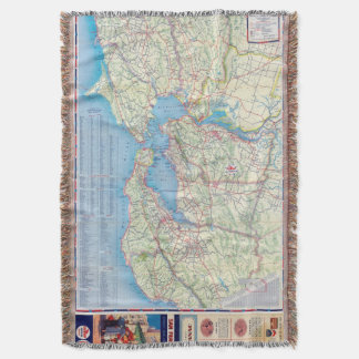 San Francisco and Vicinity Throw Blanket