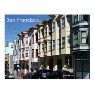 san francisco architecture postcard