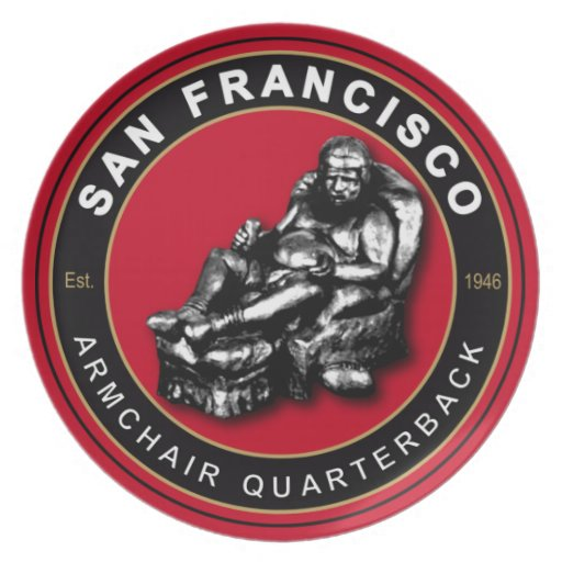 San Francisco Armchair Quarterback Football Plate