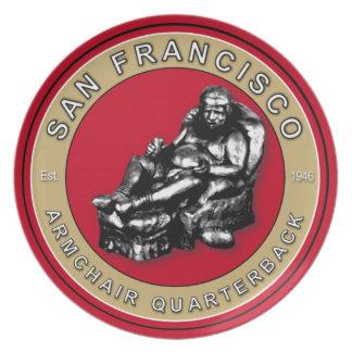San Francisco Armchair Quarterback Plate