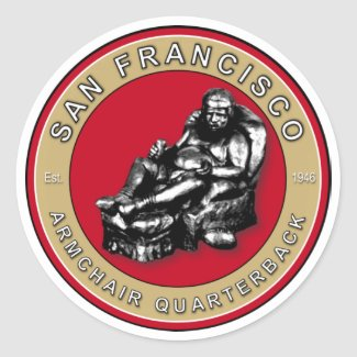 San Francisco Armchair Quarterback Sticker