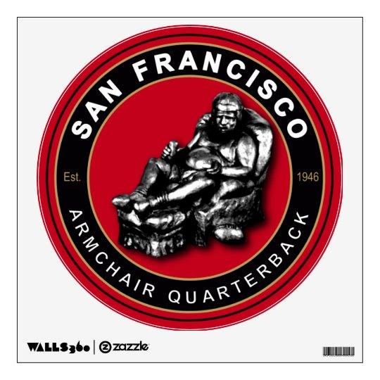 San Francisco Armchair Quarterback Wall Decal