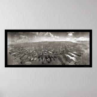 San Francisco arruina la foto 1906 Póster