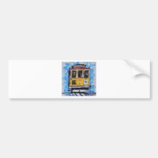 San Francisco Art, Cable Car Painting, California Car Bumper Sticker