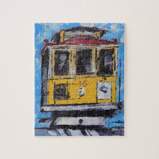 San Francisco Art, Cable Car Painting, California Jigsaw Puzzle