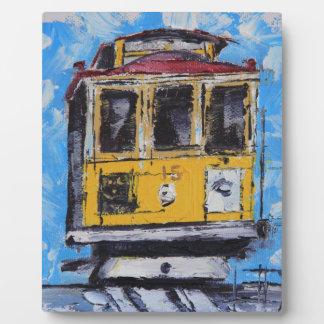 San Francisco Art, Cable Car Painting, California Photo Plaques