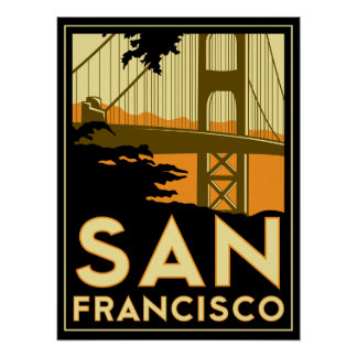San Francisco Art Deco Poster