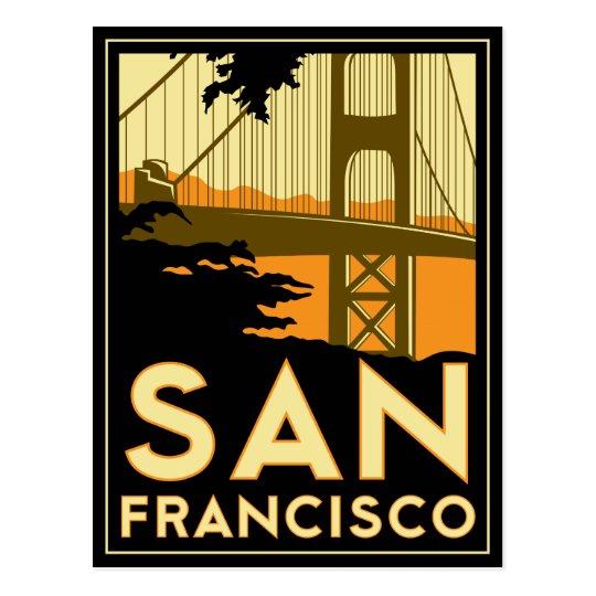 San Francisco Art Deco Poster Postcard