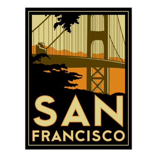 Art Deco Posters: San Francisco Art Deco Retro Poster