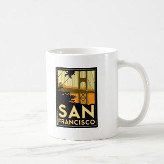 San Francisco Art Deco Travel Poster Classic White Coffee Mug