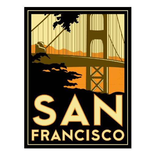 San Francisco Art Deco Travel Poster Post Cards