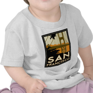 San Francisco Art Deco Travel Poster T Shirts