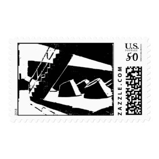San Francisco Art Institute Wood Cut Postage Stamp