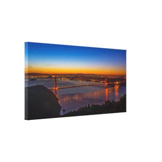 San Francisco at Dawn Panoramic Wrapped Canvas