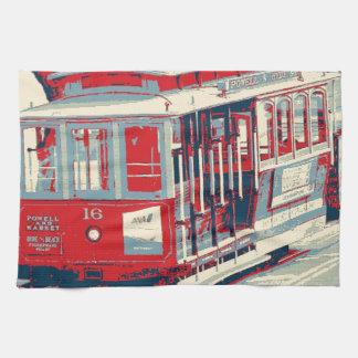 San Francisco, azul rojo Toalla De Mano