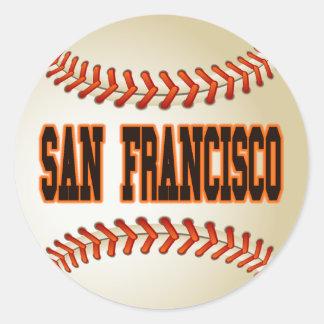 SAN FRANCISCO BASEBALL CLASSIC ROUND STICKER