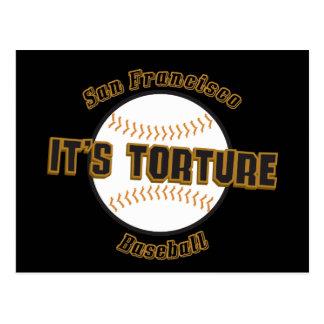 San Francisco Baseball It's Torture Postcard