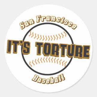 San Francisco Baseball It's Torture Sticker