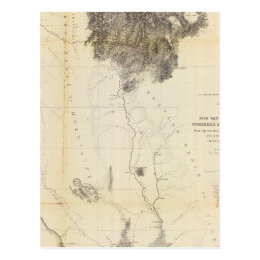 San Francisco Bay al límite de N de California Tarjetas Postales