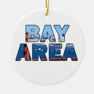 San Francisco Bay Area Ceramic Ornament