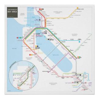 San Francisco Bay Area INAT Map Poster