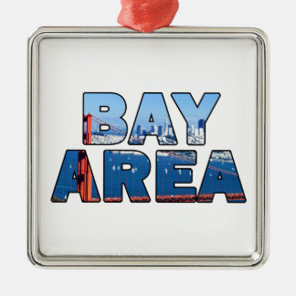 San Francisco Bay Area Metal Ornament