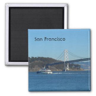 San Francisco Bay Bridge 2 Inch Square Magnet