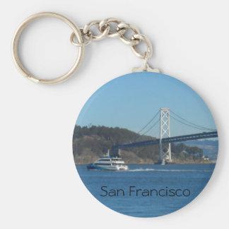 San Francisco Bay Bridge Basic Round Button Keychain