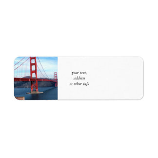 San Francisco Bay Bridge Label