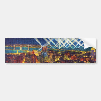San Francisco Bay Bridge & Lights of US Fleet Bumper Sticker