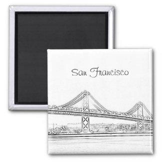 San Francisco Bay Bridge Magnet