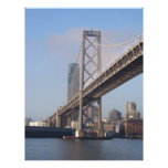 San Francisco bay bridge on a sunny morning Personalized Letterhead
