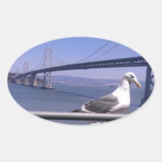 San Francisco Bay Bridge Oval Sticker