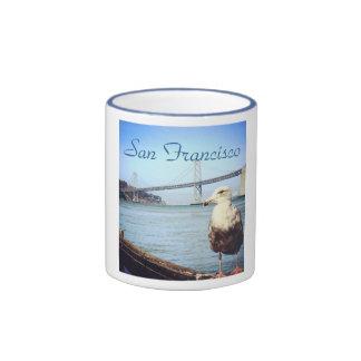 San Francisco Bay Bridge Seagull Mug