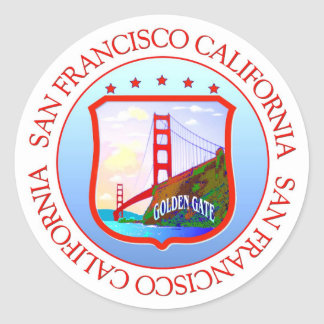 San Francisco Bay California Classic Round Sticker