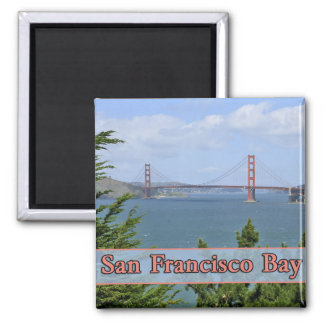 San Francisco Bay 2 Inch Square Magnet