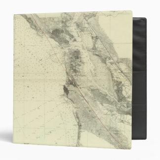"San Francisco Bay que muestra la grieta de San And Carpeta 1 1/2"""