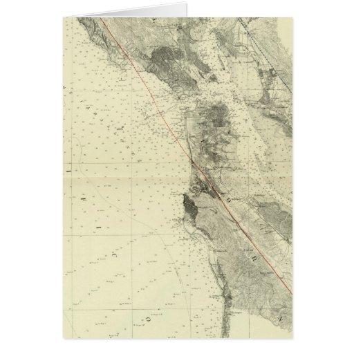 San Francisco Bay que muestra la grieta de San And Tarjetas