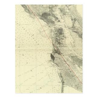San Francisco Bay que muestra la grieta de San And Tarjeta Postal