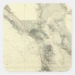 San Francisco Bay que muestra la grieta de San Pegatina Cuadrada