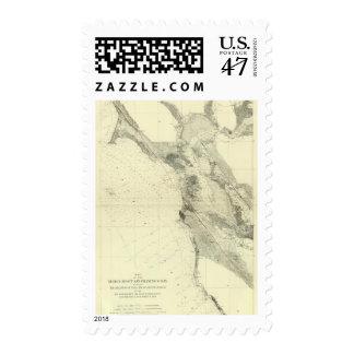San Francisco Bay que muestra la grieta de San Timbre Postal