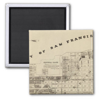 San Francisco Bay Salt Marsh 2 Inch Square Magnet