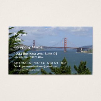 San Francisco Bay Seen From The Precidio Business Card